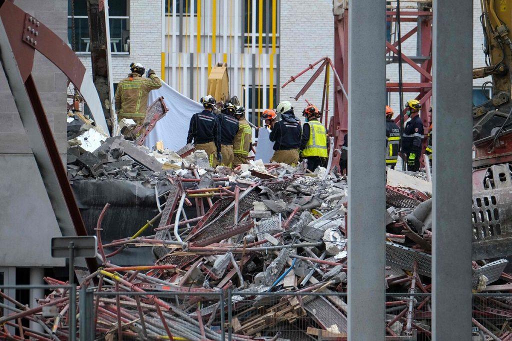 سه کارگر در اثر رانش زمین در مدرسه ای در آنتورپ درگذشت و دو نفر ناپدید شدند