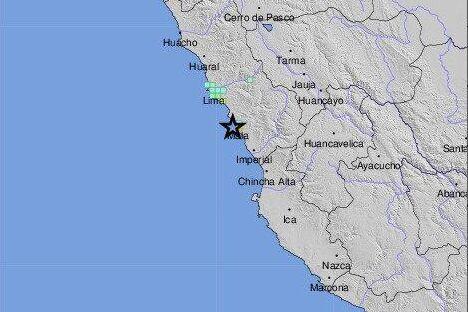 زمین لرزه ای به بزرگی 6 ریشتر پایتخت پرو را لرزاند