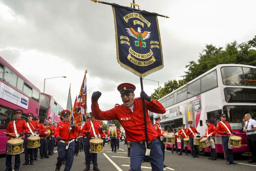سیگنال پلیس برای رژه های اتحادیه های صنفی اولستر